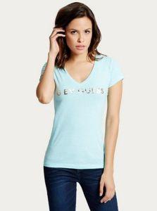 GUESS dámské tričko Jasleen Sequin Wing Tee