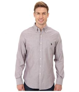 U.S. Polo Assn pánská košile Long Sleeve Solid Oxford Button Down Shirt U.S. Polo Assn.
