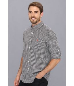 U.S. Polo Assn pánská košile Roll Up Sleeve Gingham Poplin U.S. Polo Assn.