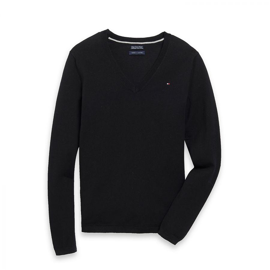 Tommy Hilfiger tričko s dlouhým rukávem CLASSIC V-NECK SWEATER