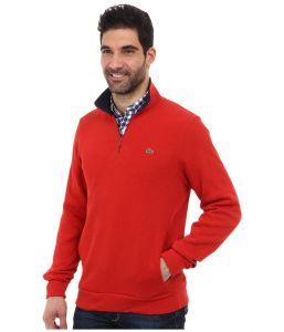 LACOSTE pánská mikina Half Zip Lightweight Sweatshirt w/ Logo At Neck