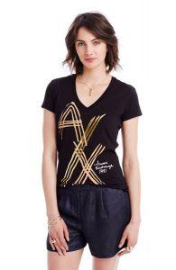 Armani Exchange dámské tričko Logo Stroke