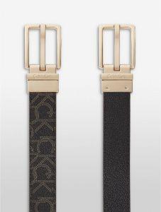 Calvin Klein pásek Logo jacquard reversible belt