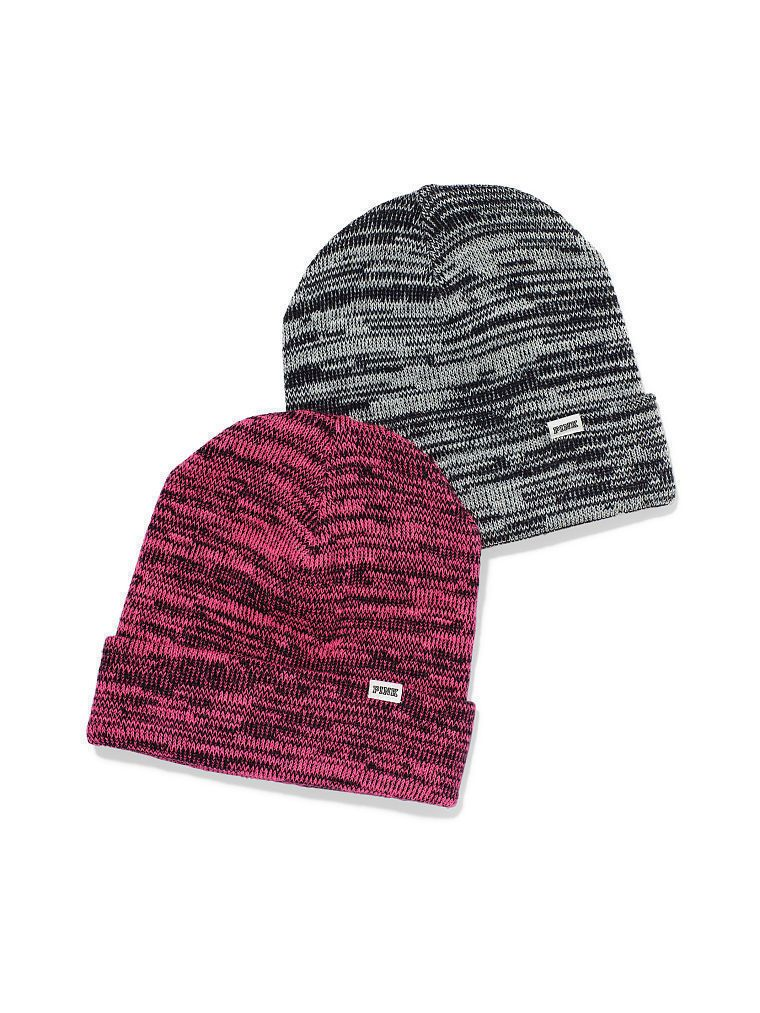 Victoria Secret čepice KNITTED BEANIE WINTER HAT šedá Victoria's Secret