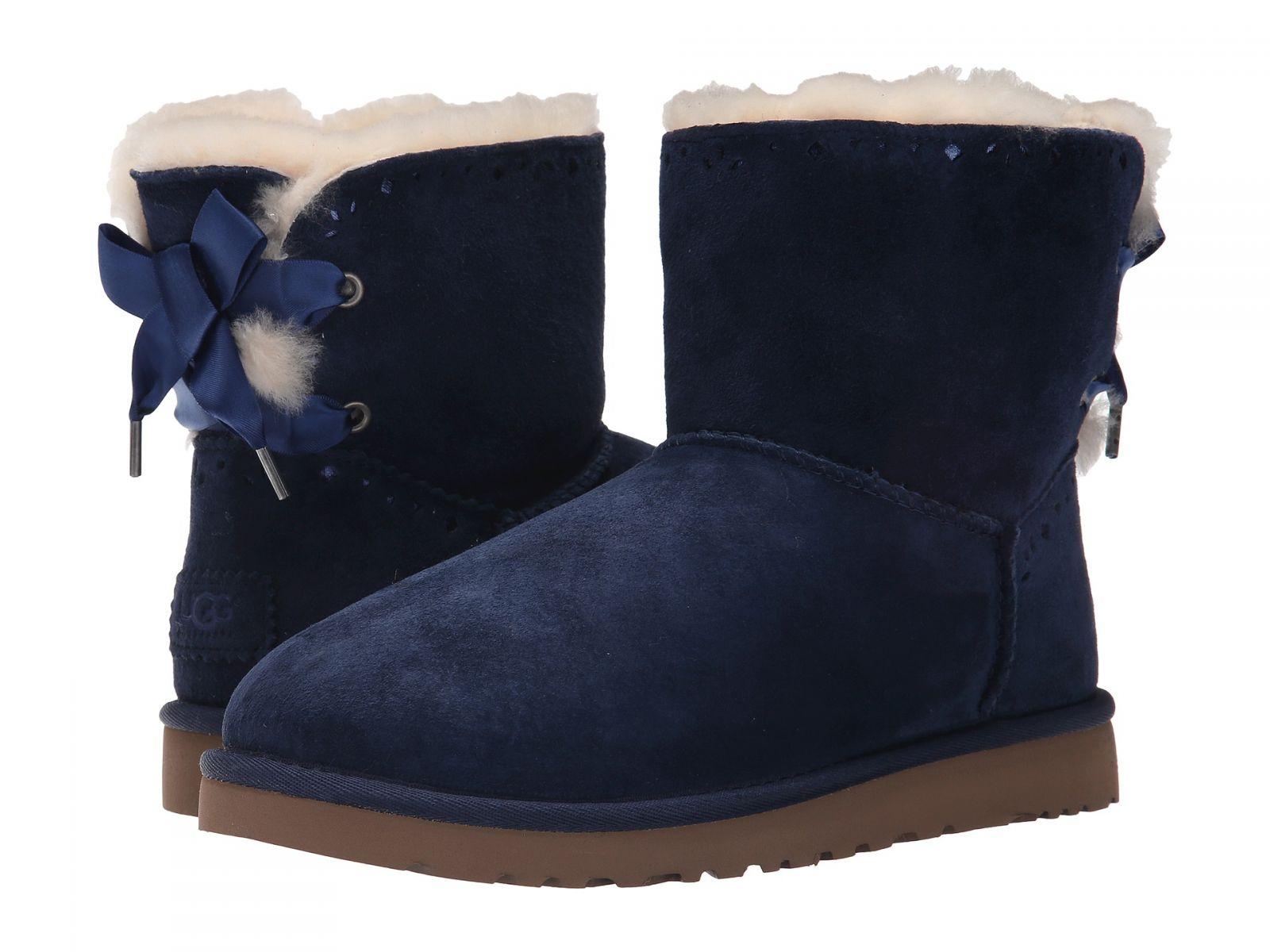 UGG dámské boty Dixi Flora Perf modrá