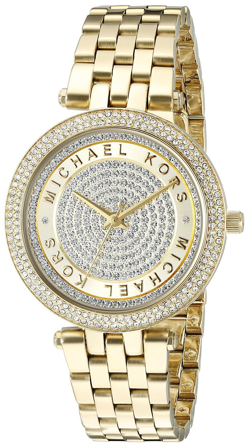 Michael Kors hodinky Mini Darci Crystal Pave Dial Gold-Tone MK3445