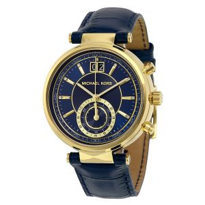 Michael Kors Sayer Blue Dial Amber Blue Ladies Watch MK2425