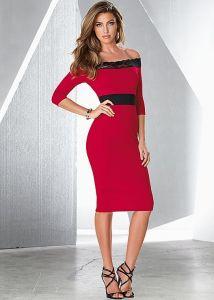 VENUS dámské šaty OFF THE SHOULDER LACE