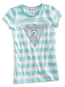GUESS dívčí tričko Beatrix Striped