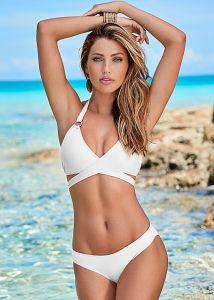 VENUS plavky Wrap Halter Bikini Top bílá