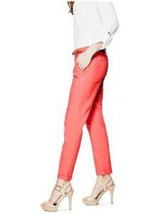 GUESS kalhoty Aurelia Trousers korálová