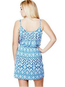 GUESS šaty Kaiko Knit Dress modrá