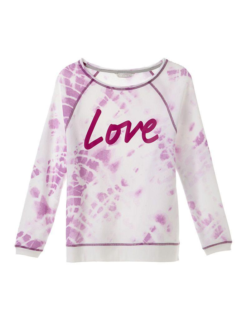 Victoria Secret mikina Slouchy Pullover růžová Victoria's Secret