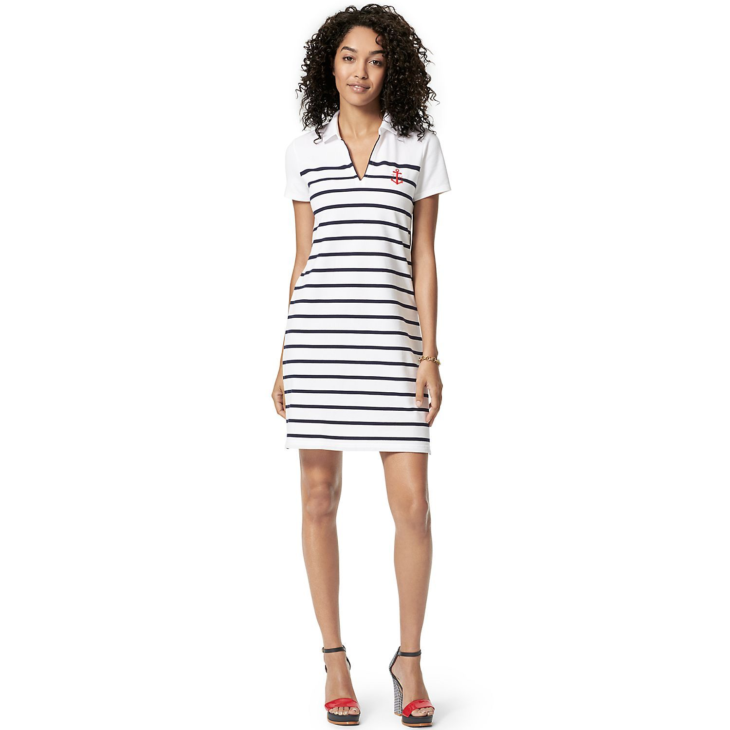 8ef5e08d06e Tommy Hilfiger šaty Stripe POLO DRESS