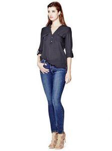 GUESS džíny Sienna Curvy Skinny Jeans in New Dark Wash