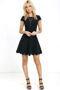 Lulus dámské šaty Proof Of Perfection Skater Dress černá