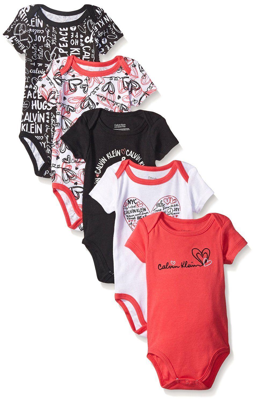 Calvin Klein luxusní oblečení 5 Packs Short Sleeve Bodysuits
