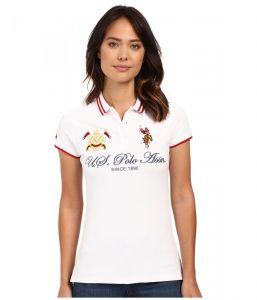 U.S. Polo Assn dámské polo tričko Embellished Quilted