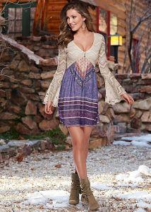 VENUS dámské šaty PRINTED LACE