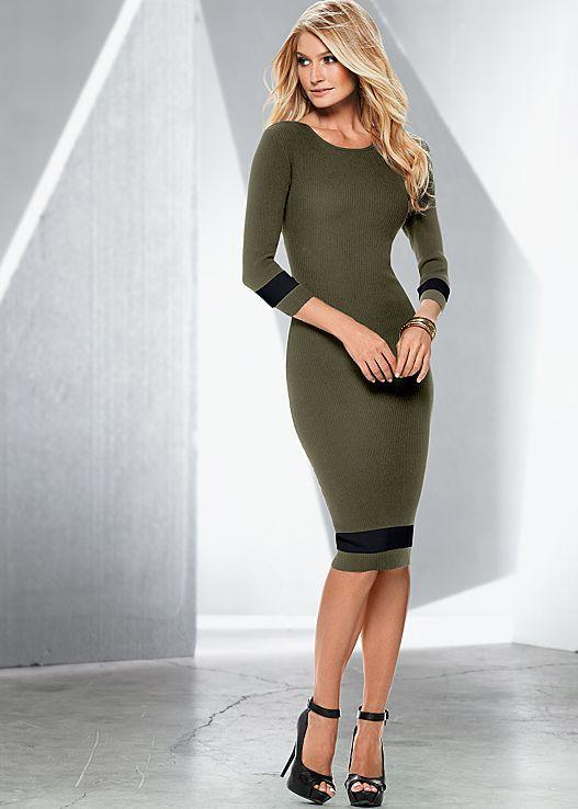 VENUS šaty COLOR BLOCK SWEATER DRESS