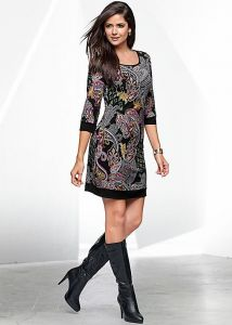 VENUS dámské šaty PAISLEY PRINTED