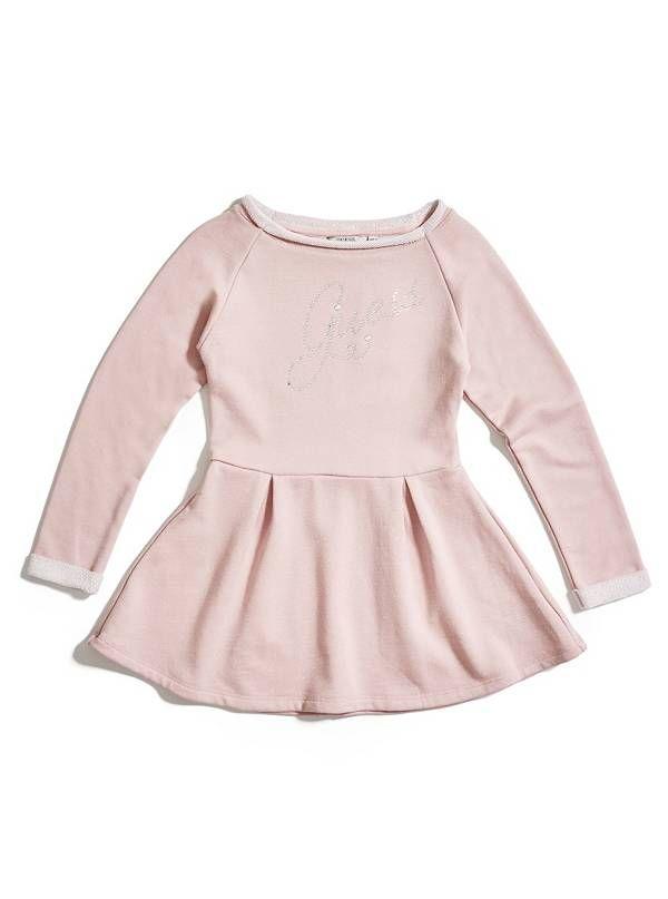 GUESS šaty Lona Active Dress růžová
