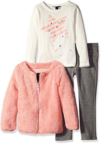 Nautica dívčí set Jacket, Shirt and Double Knit Pant