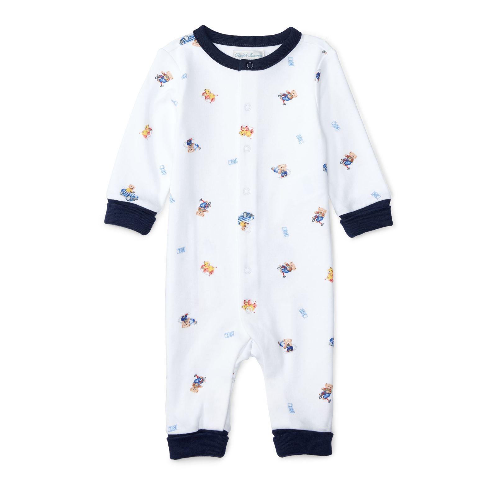 Ralph Lauren oblečení pro miminko Polo Bear Cotton Coverall