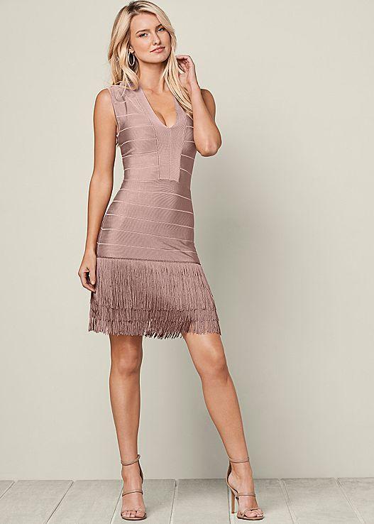 VENUS šaty SLIMMING FRINGE DRESS