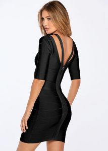 VENUS šaty SLIMMING STRAP DETAIL DRESS