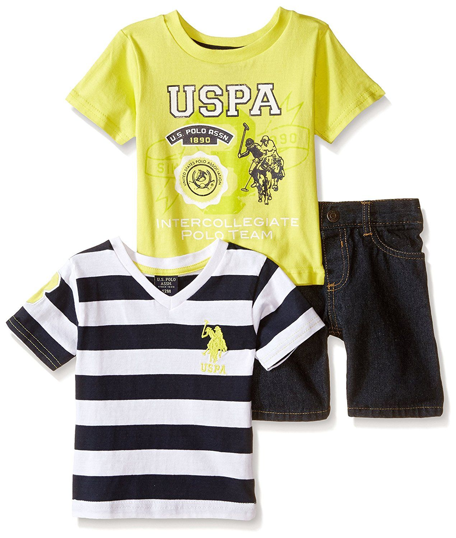 U.S. Polo Assn. oblečení pro miminko Rugby Striped žlutá
