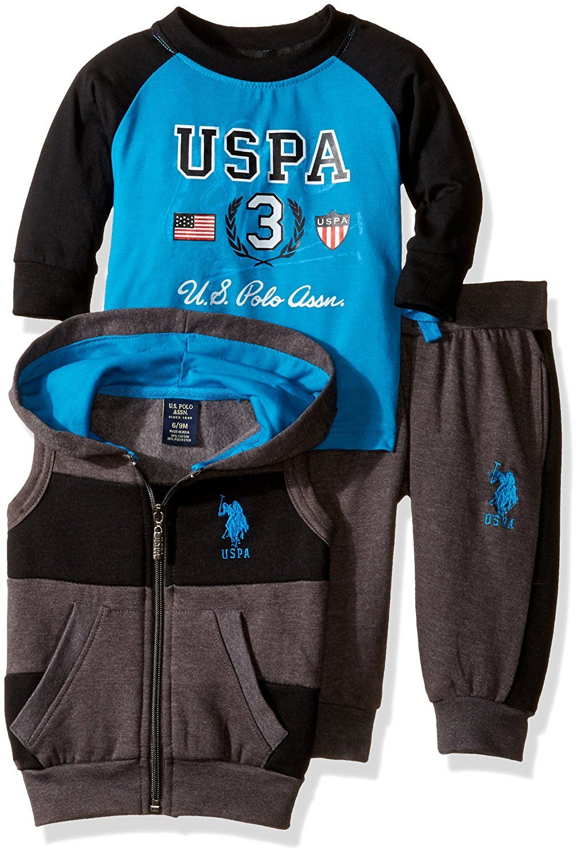 U.S. Polo Assn. oblečení pro miminko Wide Stripe tyrkysová