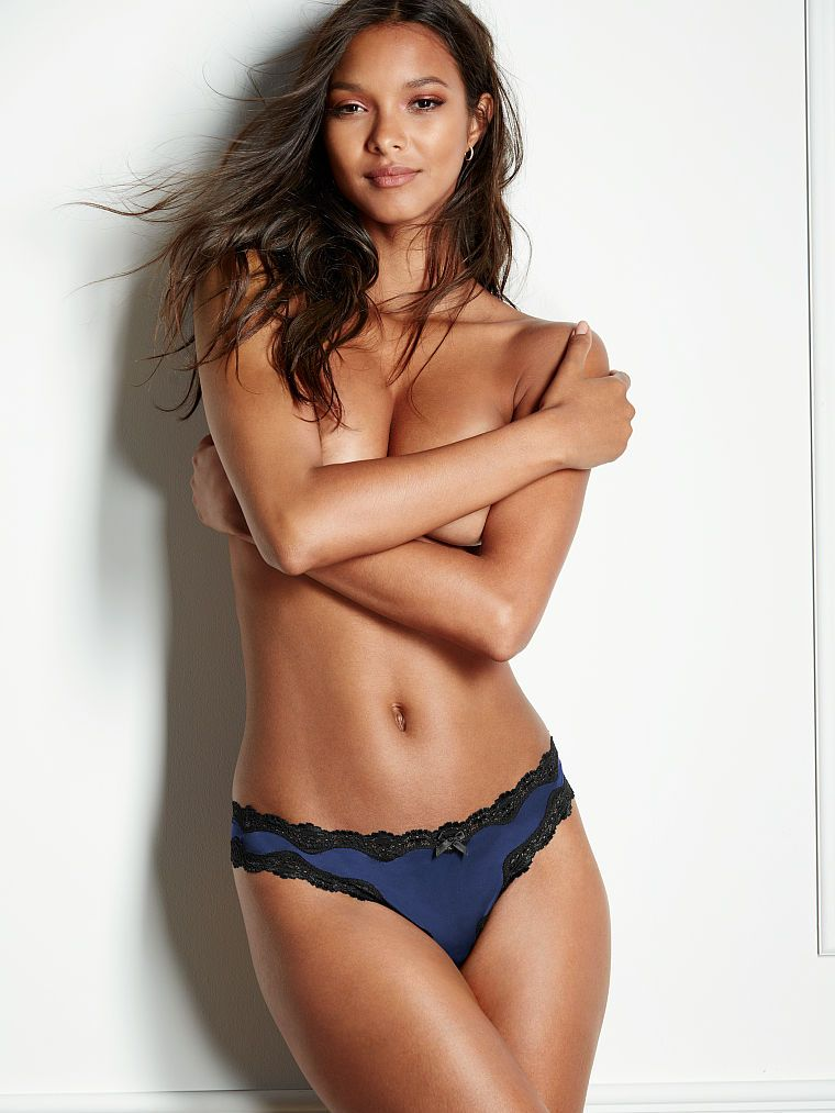 Victoria secret tanga Lace-trim thong panty Victoria's Secret