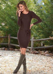 VENUS dámské šaty TIE DETAIL SWEATER