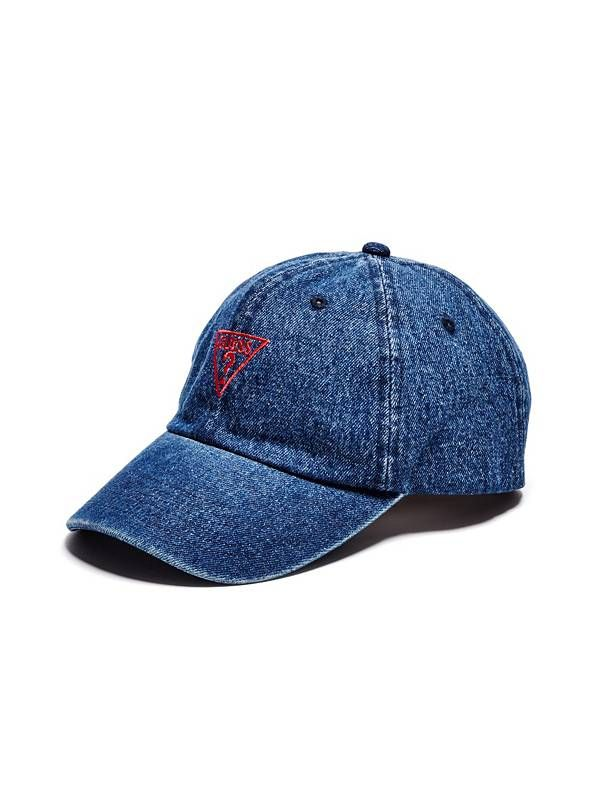 GUESS kšiltovka Denim Baseball Cap