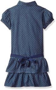 GUESS oblečení pro dívky Multi Dot Print Denim Dress modrá