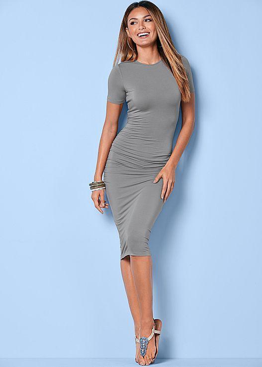 VENUS šaty BASIC HIGH NECK DRESS