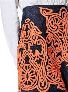 GUESS sukně A-Line Flocked Denim Miniskirt