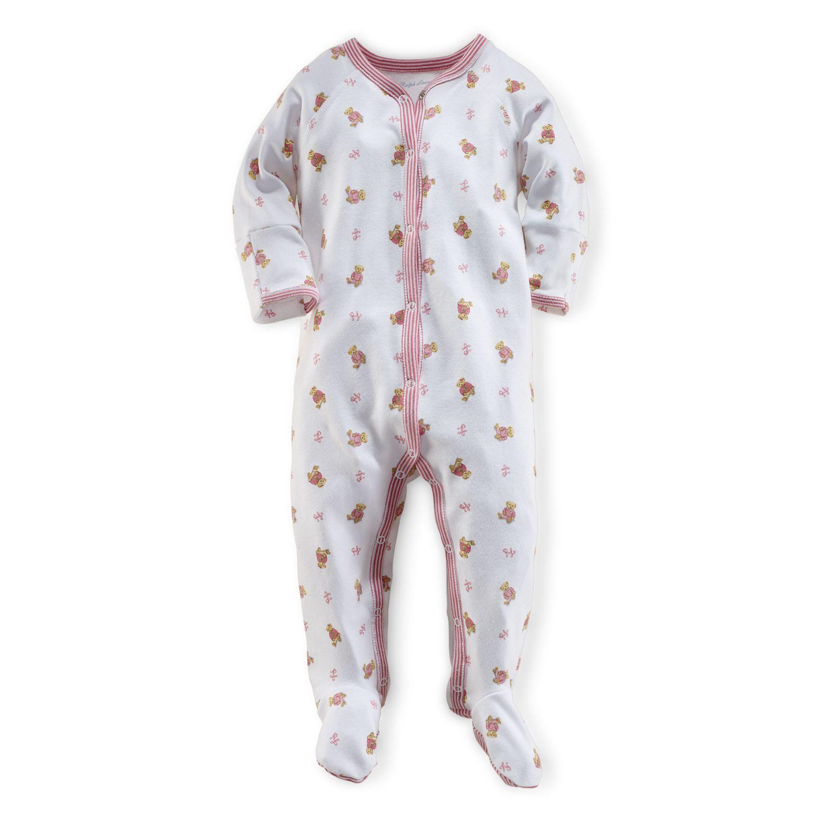 Ralph Lauren oblečení pro miminko Bear-Print Coverall