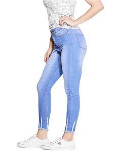 GUESS džíny Ava Raw Hem Skinny Jeans modrá