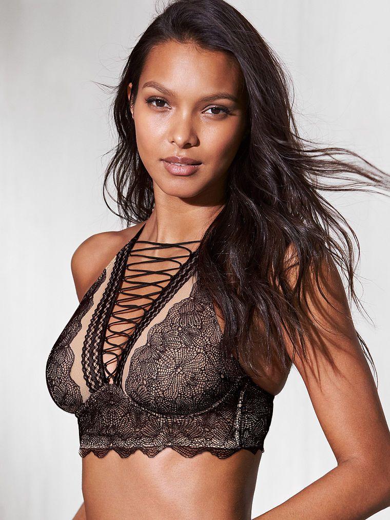 Victoria Secret podprsenka Lace-up High-neck Bra Victoria's Secret
