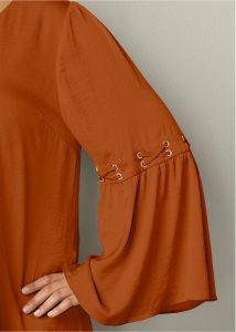 VENUS šaty LACE UP DETAIL DRESS