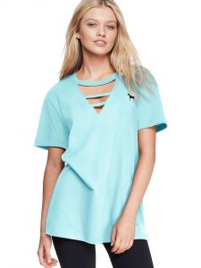 Victoria Secret tričko Campus Strappy Cutout Tee Victoria's Secret