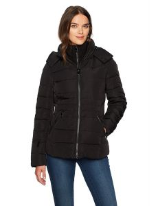 Calvin Klein bunda Down Short Puffer Coat with Hood černá