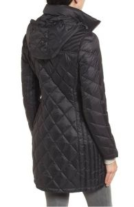 Michael Kors dámský kabát Logo Packable Puffer Coat with Detachable Hood