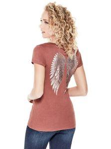 GUESS tričko Ledici Wing Graphic Tee