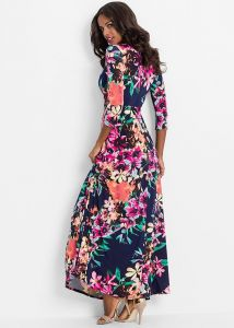 VENUS šaty FLORAL PRINT MAXI DRESS