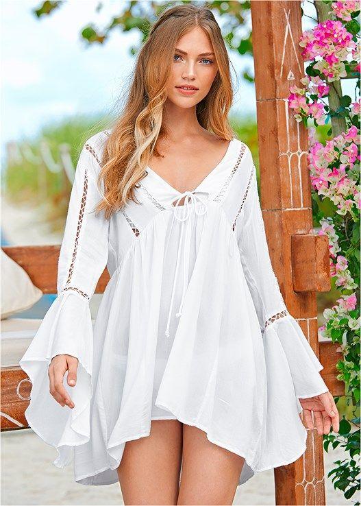 VENUS šaty BELL SLEEVE COVER-UP