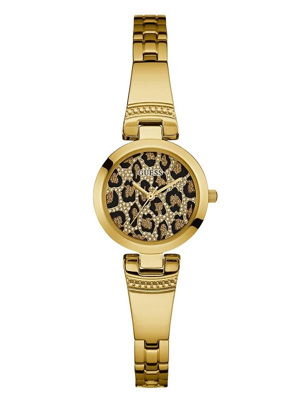 GUESS hodinky Gold-Tone Classic Watch