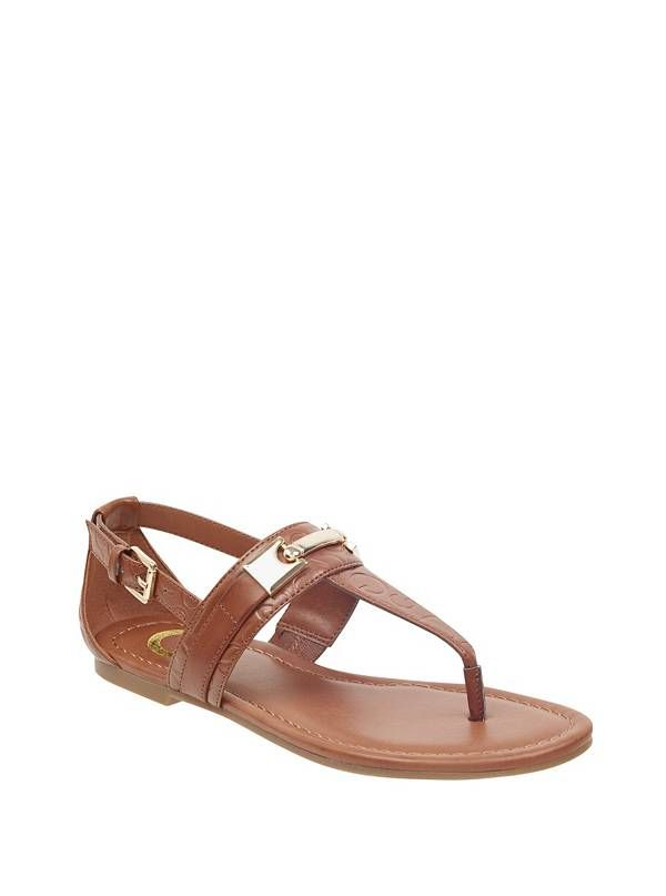 GUESS žabky Linkin T-Strap Sandals